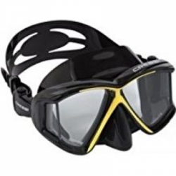 large cressi panoramic 4 window dive mask blackyellow intl CR392SPAB4HZW1ANID 91811612