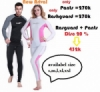 Thenice Split Snorkeling font b Scuba b font font b diving b font skin suits suntan  medium