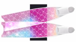 large transparent white fins 3