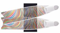 large leaderfins rainbowline fins set semi transparent limited edition 2