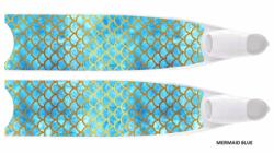 large leaderfins limited edition 2020 18 mermaid blue transparent