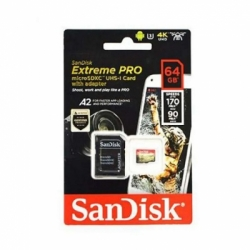 sandisk sandisk extreme pro microsdxc uhs 1 card 64gb with adapter  170mbps  full01 ndh9vtpu  large